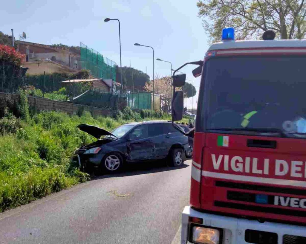 Incidente a Morlupo, foto Ansa