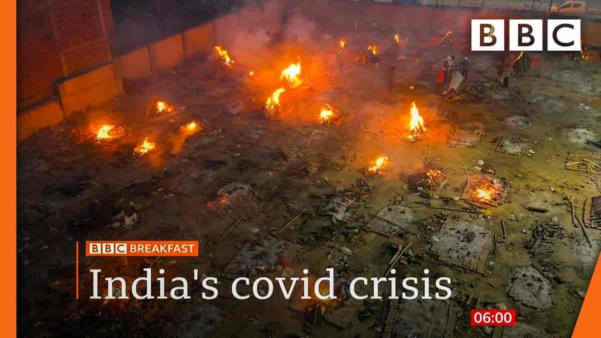 India Covid cremazioni