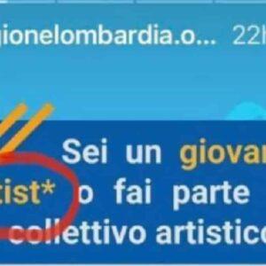 Regione Lombardia, asterisco per artist*: volontà di linguaggio inclusivo, ma artisto non esiste