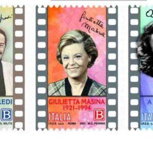 Nino Manfredi, Alida Valli e Giulietta Masina: i tre francobolli di Poste Italiane nel centenario della nascita