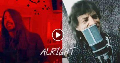Mick Jagger e Dave Grohl cantano Eazy Sleazy: VIDEO e testo canzone scritta durante il lockdown