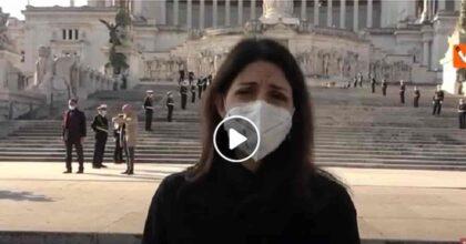 Natale di Roma 2021, Virginia Raggi all'Altare della Patria per festeggiare la nascita di Roma VIDEO
