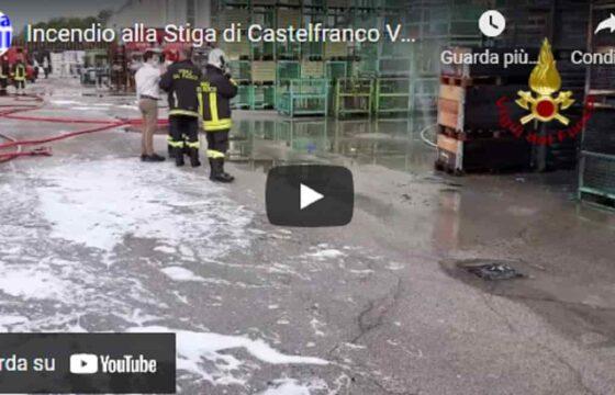 Incendio Stiga di Castelfranco Veneto, a fuoco un container esterno. Evacuati i dipendenti dell'azienda VIDEO