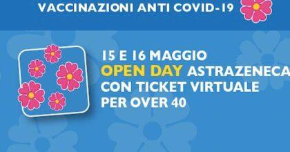 Vaccinazioni anti Covid Regione Lazio, open day Astrazeneca il 15 e il 16 maggio per gli over 40 (dal 1981 in poi)