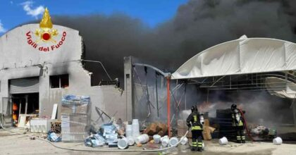 Cagliari incendio via Elmas