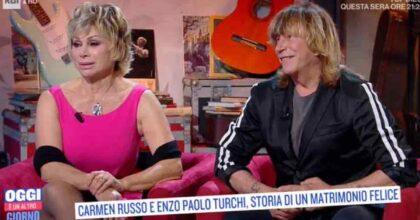 Carmen Russo e Enzo Paolo Turchi a Oggi è un altro giorno
