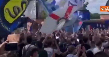 Festa scudetto dei tifosi Inter a San Siro