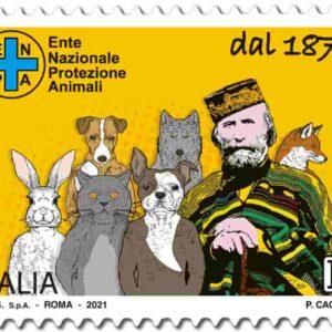 Francobollo per i 150 anni Enpa: valore, tiratura, bozzetto, vignetta con Garibaldi FOTO