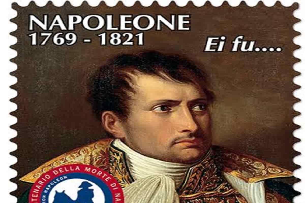 Poste Italiane il francobollo dedicato a Napoleone Bonaparte nel bicentenario della morte