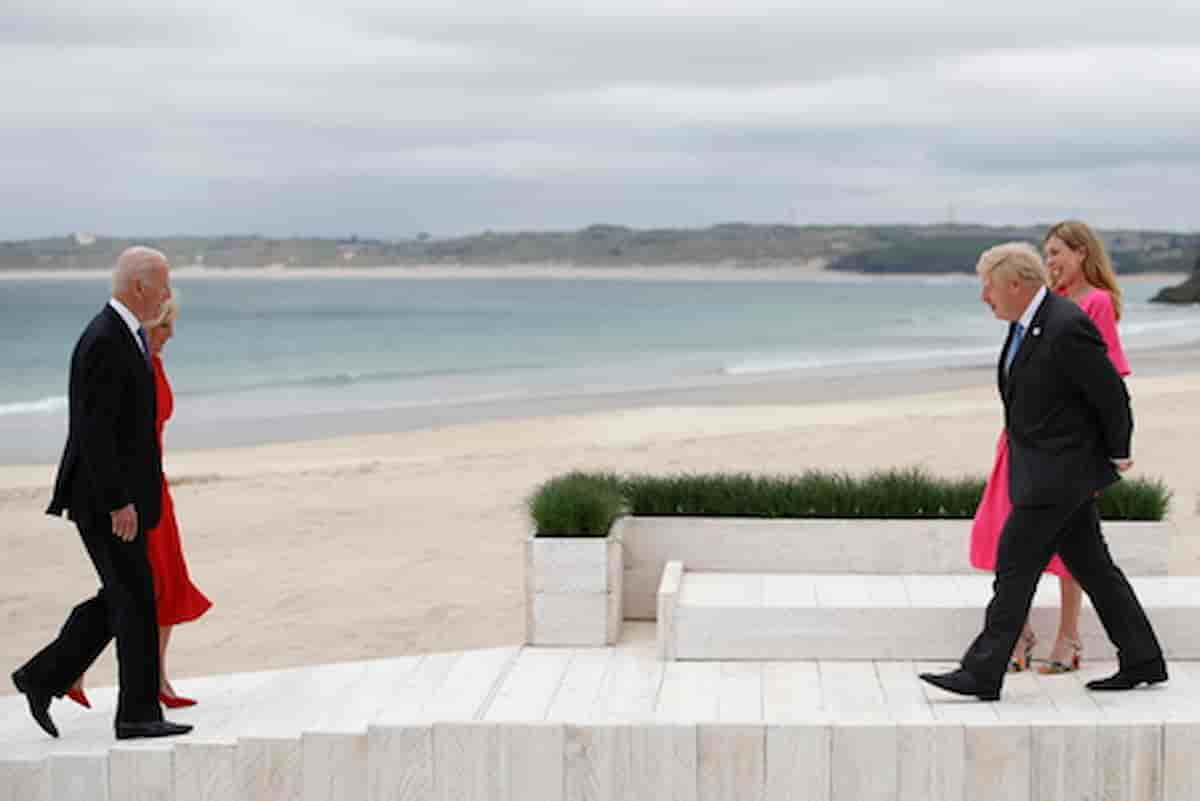 First lady, ecco come lo status di moglie ha cambiato Corrie Symonds: analisi del body language al G7