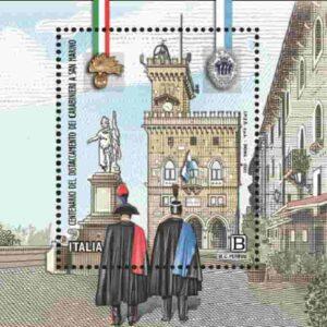 Francobollo per il distaccamento dei Carabinieri a San Marino: valore, tiratura, bozzetto FOTO