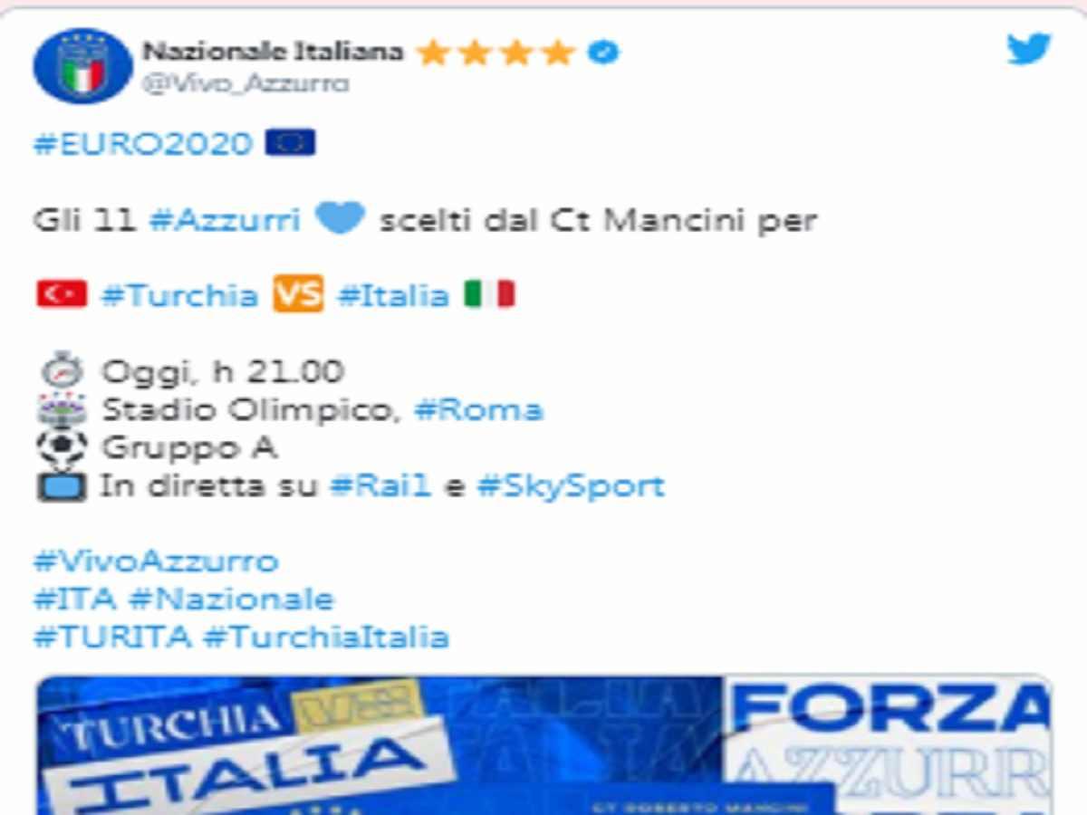 euro 2020 formazioni Italia turchia