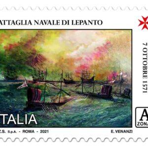 Poste Italiane emette due francobolli ordinari celebrativi dello scontro navale di Lepanto e dell'Ordine di Santo Stefano Papa e Martire