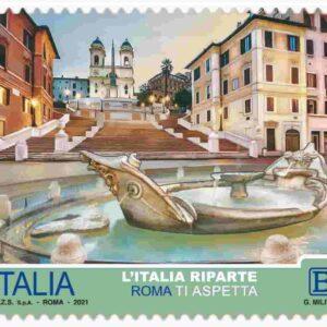 Francobolli serie turistica su Roma, Milano, Firenze, Venezia, Napoli e Palermo: valore, tiratura, bozzetto, FOTO