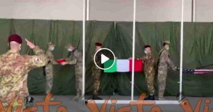 Herat, bandiera tricolore ammainata VIDEO Dopo 20 anni i militari italiani lasciano l'Afghanistan