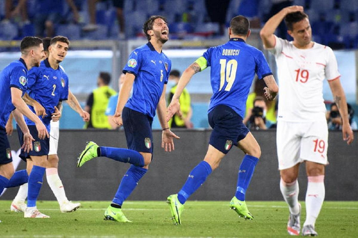 Italia agli ottavi (3-0 alla Svizzera), le pagelle: Locatelli il migliore con 2 gol, Mancini non sbaglia nulla