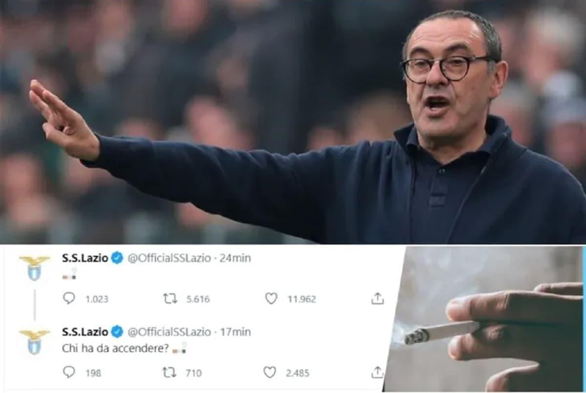 Lazio, arriva Sarri: sui social l'emoticon della sigaretta. Contratto di 2 anni, quanto verrà pagato