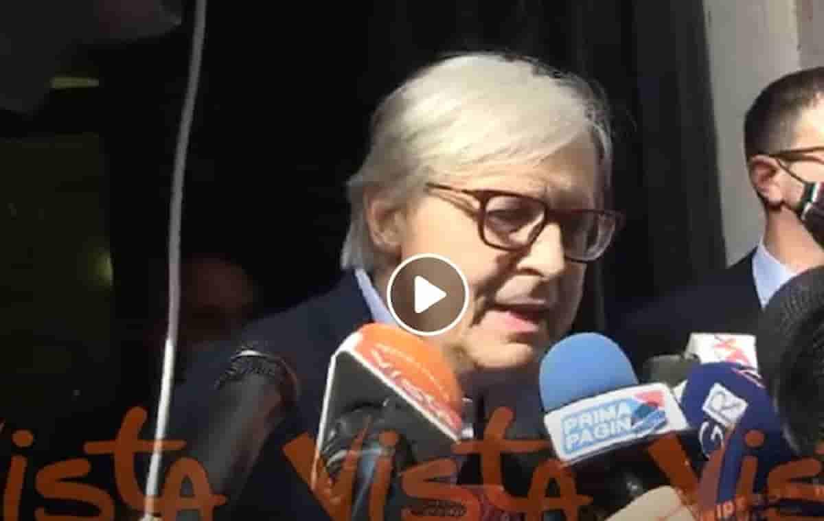 Sgarbi assessore nel ticket Michetti-Matone? Ritirata la candidatura a sindaco di Roma VIDEO