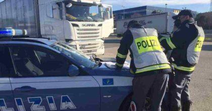 polizia stradale, foto ansa