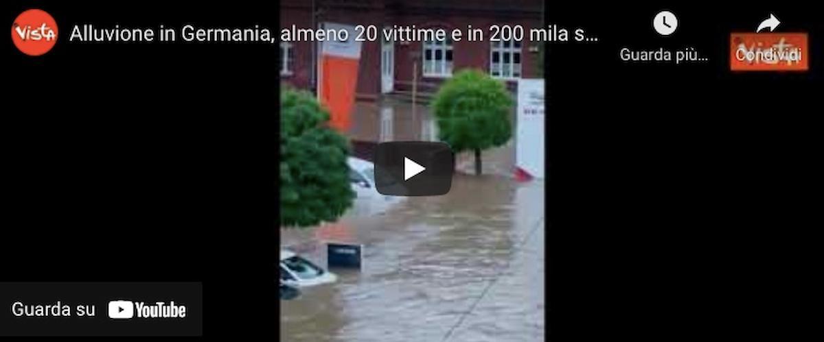 Alluvioni e maltempo in Germania, 42 morti tra Renania e Vestfalia VIDEO