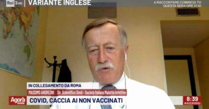 infettivologo Massimo Andreoni no-vax