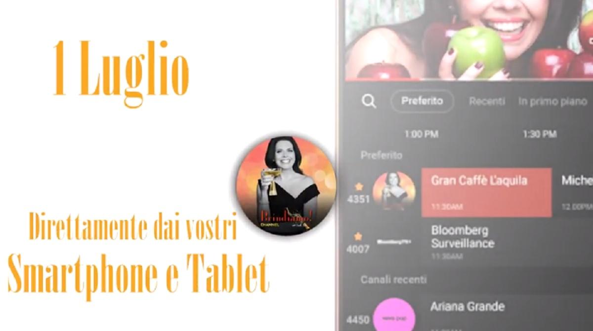 Brindiamo! Channel anche su Samsung TV Plus mobile app: canale dedicato al'iitalian lifestyle