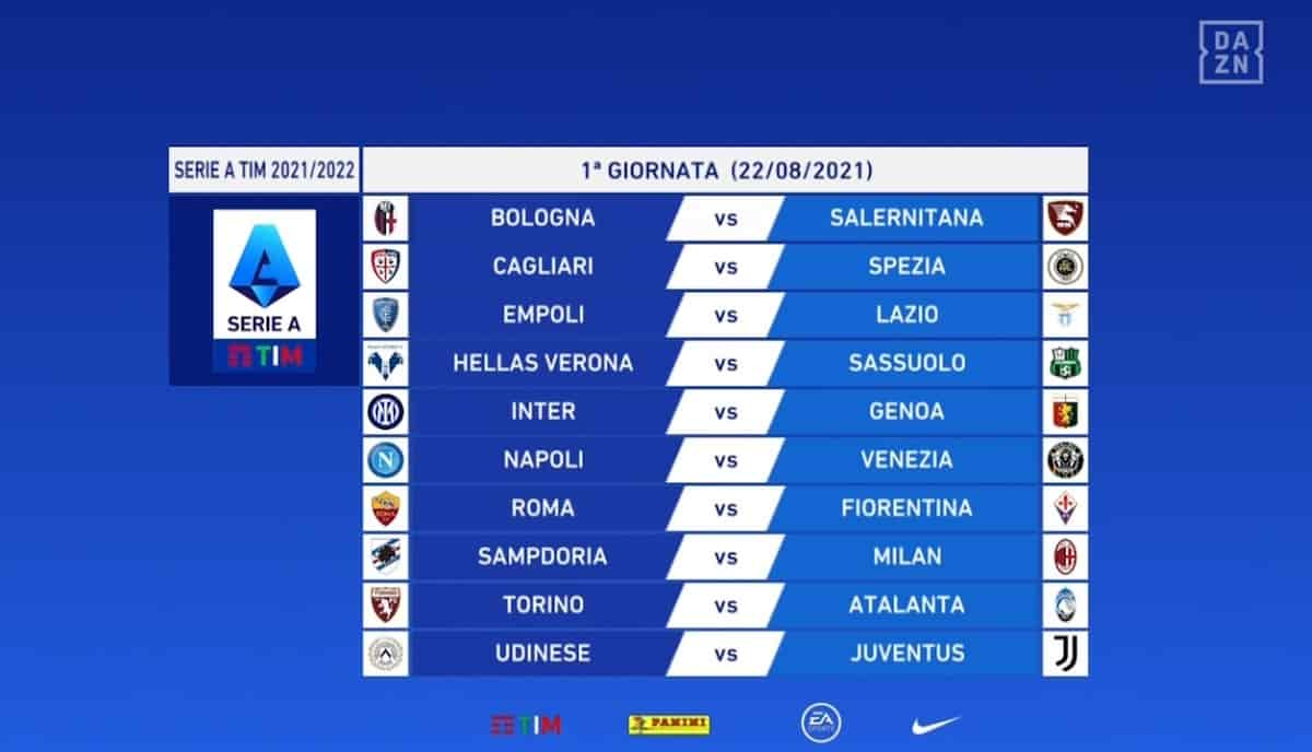 Calendario Serie A 2021-2022