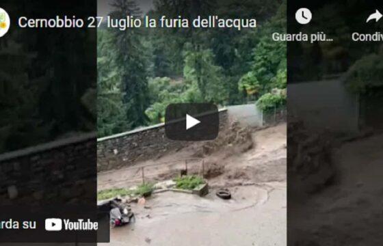 Cernobbio, ragazza scappa col motorino qualche istante prima dell'arrivo di un'ondata di fango VIDEO