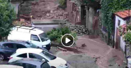 Frana a Blevio per il maltempo: fiumi di fango, frazioni isolate VIDEO Disagi in provincia di Como