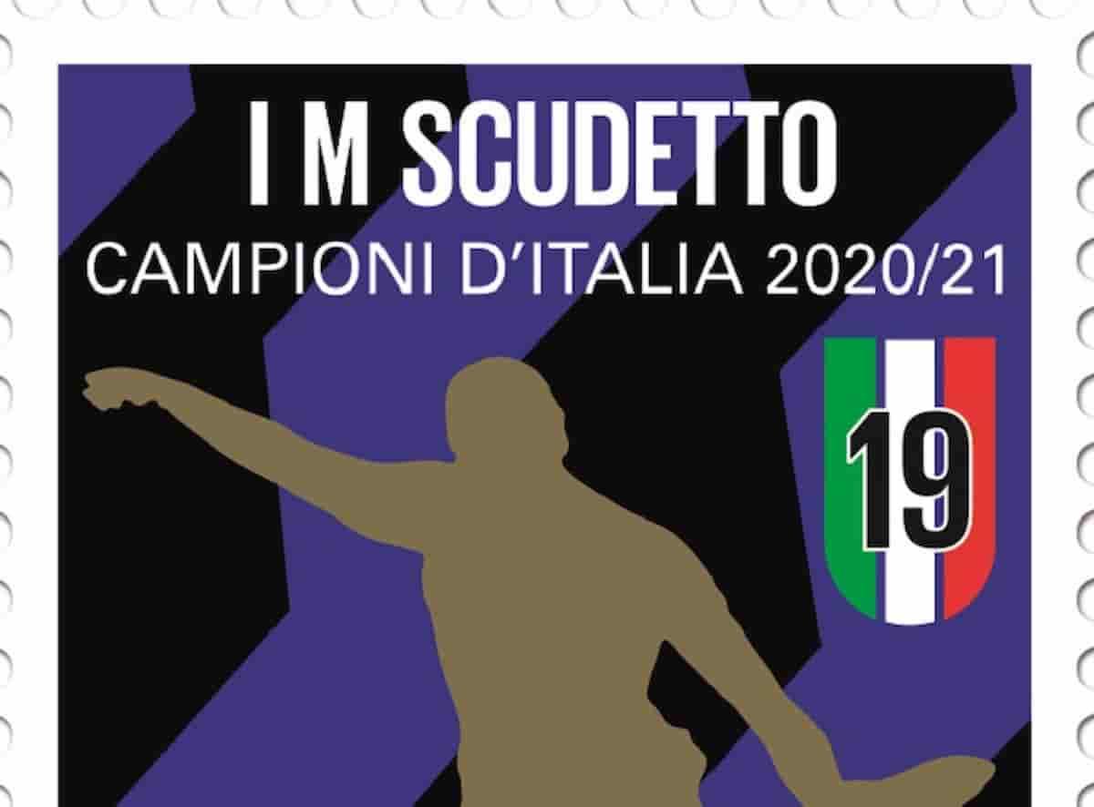Francobollo per l'Inter campione d'Italia: valore, tiratura, bozzetto, vignetta FOTO