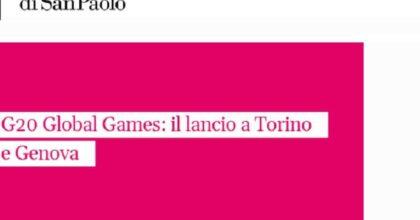 G20 Global Games: il 27 luglio a Genova l'evento per il lancio del progetto della Compagnia di Sanpaolo