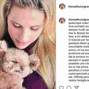 """Michelle Hunziker piange la morte del suo cane Lilly su Instagram: """"Non era possibile una vita senza di lei"""""""