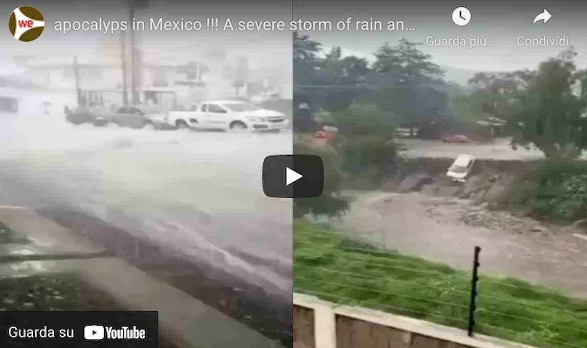 Atizapan (Messico), nubifragio con grandinata violenta (VIDEO): un uomo muore di ipotermia
