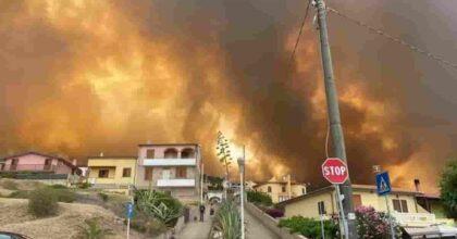 Incendio Oristano: fiamme assediano Porto Alabe, 1500 sfollati, oltre 20mila ettari in fumo