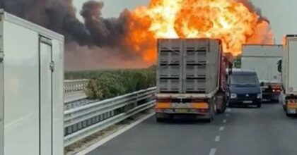 foggia autocisterna esplode