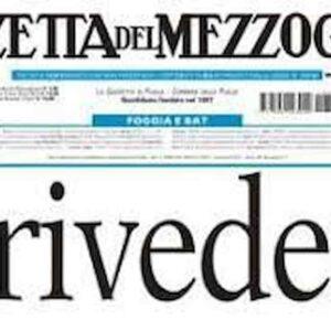 Gazzetta del Mezzogiorno, deve tornare ma il dramma è di tutti i giornali, rimbomba il silenzio di Moles