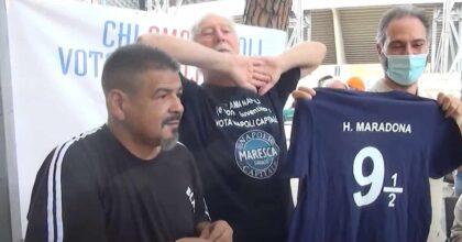 """Hugo Maradona, fratello di Diego, candidato a Napoli con il centrodestra: """"Lo faccio per i bambini"""" VIDEO"""