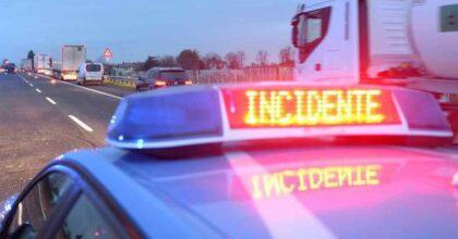 Incidente A26: schianto auto contro moto a Ovada, un morto. Autostrada chiusa in direzione Genova