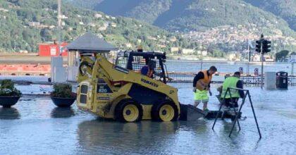 Esonda anche il Lago di Como, strade allagata in città FOTO: 20 cm in più in poche ore