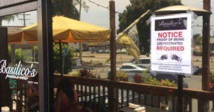 """Ristorante italiano no vax in California (Usa): """"Ingresso vietato ai vaccinati. Così difendiamo la libertà"""""""