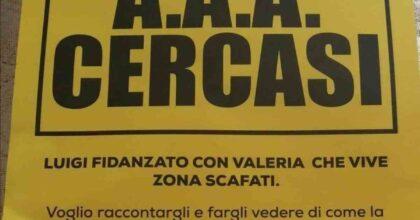 """Scafati, su un volantino la vendetta di una donna tradita: """"AAA cercasi Luigi, fidanzato di Valeria, amante del mio compagno"""""""