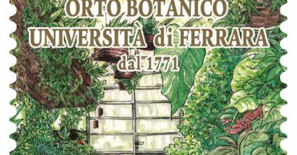 Poste Italiane, francobollo dedicato all'Orto Botanico dell'Università di Ferrara