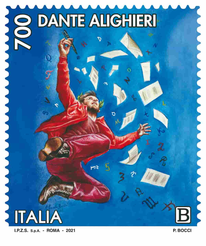 francobollo Dante Alighieri paradiso
