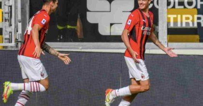 Daniel Maldini segna il 1° gol in Serie A in Spezia-Milan, papà Paolo esplode in tribuna
