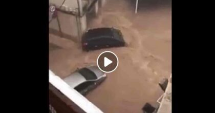 Alluvione Spagna: inondazioni sulla Costa Orientale, le strade come fiumi ad Alcantar VIDEO
