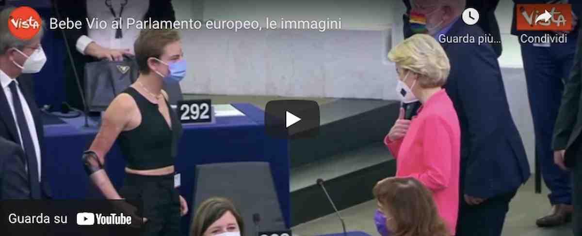 """Bebe Vio al Parlamento europeo, Ursula von der Leyen: """"E' una leader da cui trarre ispirazione"""" VIDEO"""
