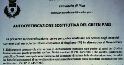 Bugliano, il Comune che non esiste, esaltato dai No Vax per le norme anti Green pass