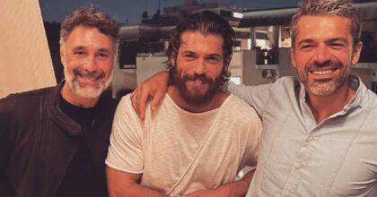 """Can Yaman, Luca Argentero e Raoul Bova... La foto che fa impazzire le fan: """"Qui scoppiano le coronarie"""""""