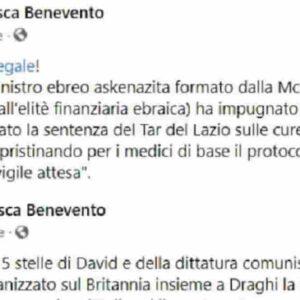 Francesca Benevento candidata pro Michetti: Speranza ebreo, microchip nei vaccini