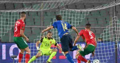 Italia-Bulgaria 1-1 highlights VIDEO gol di Chiesa non basta, ma è record di risultati utili consecutivi
